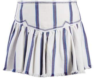 Etoile Isabel Marant Delia Gathered Striped Skirt - Womens - Blue Stripe