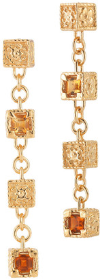 Alor Delatori by Delatori By 18K Yellow Gold Over Silver 0.50 Ct. Tw. Gemstone Drop Earrings