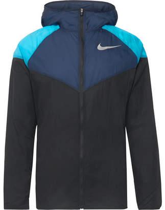 ba78747a994f Nike Running - Windrunner Colour-Block Nylon-Ripstop Hooded Jacket - Men -  Black