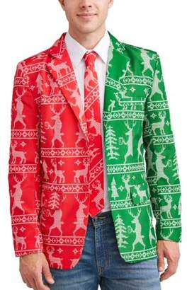 Not So Suit Suit Men's Christmas Holiday Blazer and Tie