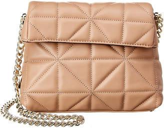 Karen Millen Quilted Leather Mini Chain Shoulder Bag