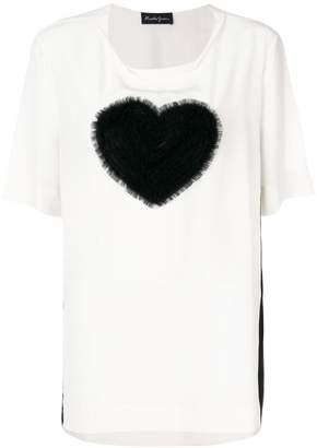 Rossella Jardini tulle heart T-shirt