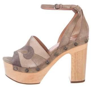 Sigerson Morrison Suede Platform Sandals w/ Tags