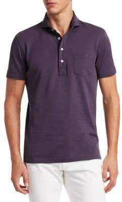 Ralph Lauren Purple Label Garment Dyed Pique Polo Tee