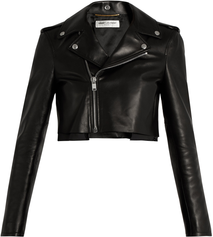 Saint LaurentSAINT LAURENT Cropped leather jacket