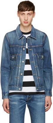 Visvim Indigo Denim Damaged Jacket $1,000 thestylecure.com