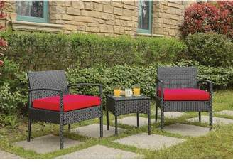 Wrought Studio Howze 3 Piece Conversation Rattan Seating Group with Cushions