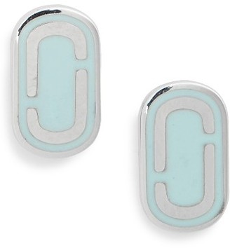 Women's Marc Jacobs Icon Enamel Stud Earrings $50 thestylecure.com