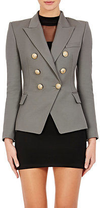 Balmain Women's Wool Double-Breasted Blazer $2,370 thestylecure.com