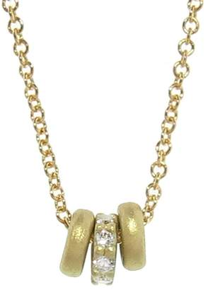Tate Tiny Donut Triplet Necklace with Diamonds