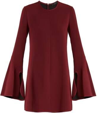 Ellery Preacher bell-sleeved crepe dress