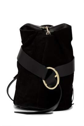 Liebeskind Berlin Medium Convertible Suede Shoulder Bag