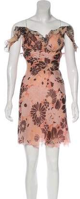 J. Mendel Printed Sleeveless Dress