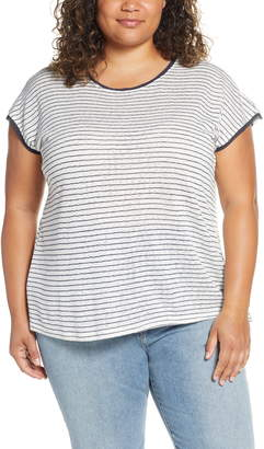 Bobeau Therese Scooped Neck Tee