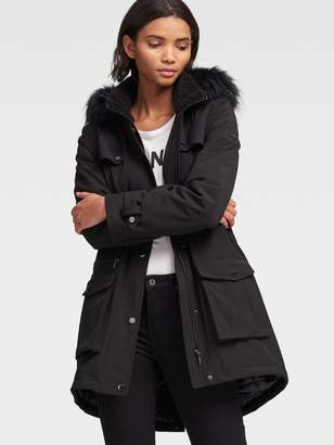 DKNY Anorak With Sherpa Lining