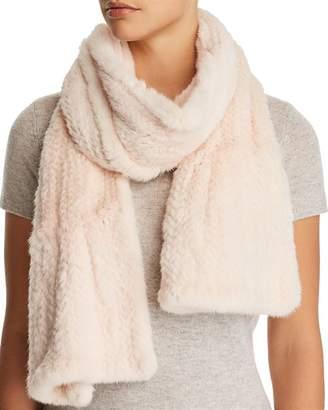 Maximilian Furs Ruffled Mink Fur Knit Scarf - 100% Exclusive