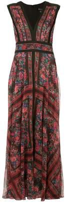 Tadashi Shoji rosewood floral dress