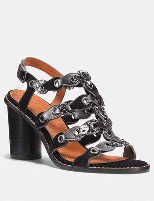 Coach Mid Heel Sandal With Link