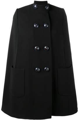 Alexander McQueen buttoned cape