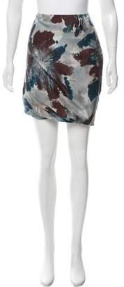 Pauw Abstract Printed Silk Skirt