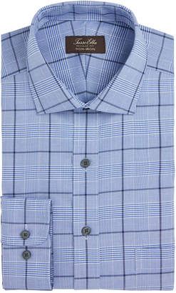 Tasso Elba Men's Classic/Regular Fit Non-Iron Basketweave Windowpane Dress Shirt
