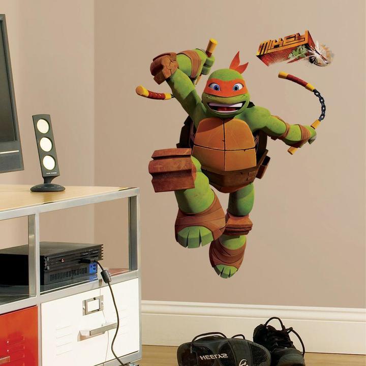 5 in. x 19 in. Teenage Mutant Ninja Turtles Mike Peel and Stick Giant Wall Decals