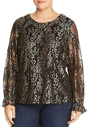Junarose Plus Metallic Lace Blouse