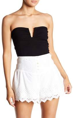 Free People Strapless Split Neck Tube Top