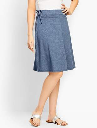 Talbots French Terry Side-Tie Skirt