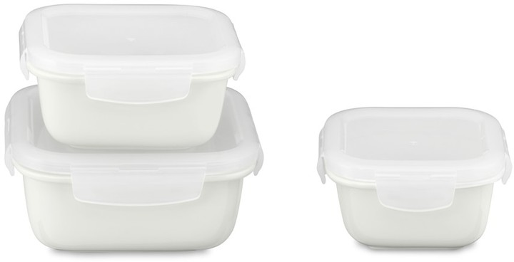Williams-Sonoma Porcelain Square Storage Containers, Set of 3