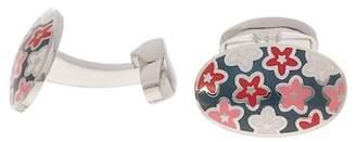Duchamp Floral Enamel Cuff Links