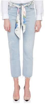 Off-White Off White Tight Crop Denim Jeans