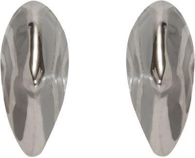 Dominic Jones White Gold & Enamel Small Thorn Stud Earrings