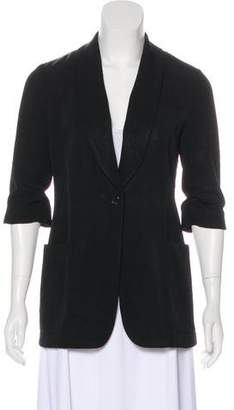 Elizabeth and James Longline Shawl-Lapel Blazer