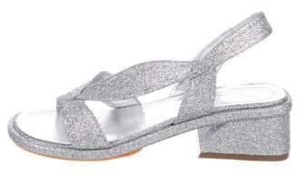 Dries Van Noten Glitter Slingback Sandals w/ Tags