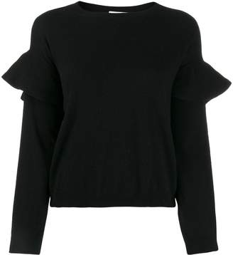 RED Valentino ruffled sleeves crew neck jumper