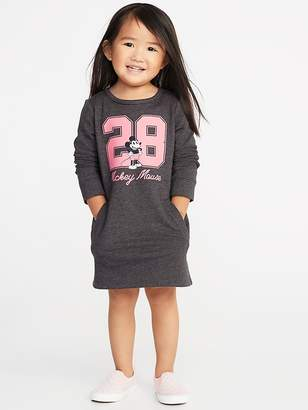 "Old Navy Disney© Mickey Mouse ""28"" Sweatshirt Dress for Toddler Girls"