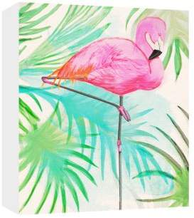 PTM Images Assortment MDF Box Flamingo Painted II Wall Art
