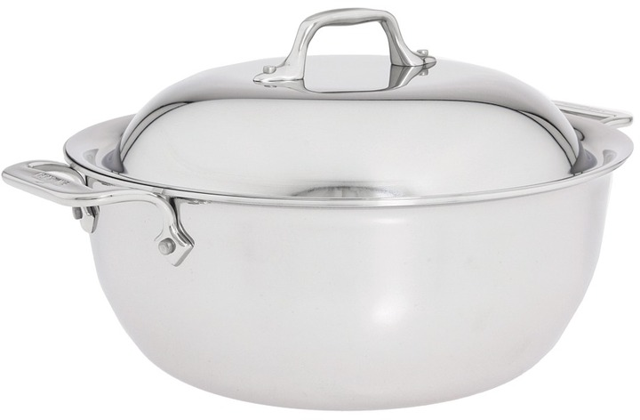 All-Clad Stainless Steel 5.5 Qt. Dutch Oven with Domed Lid (Stainless Steel) - Home