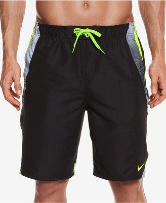 "Nike Men's Side Striped Water Shedding Swim Trunks, 9"" $58 thestylecure.com"