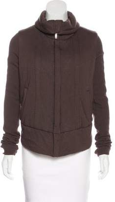 Rick Owens Lilies Zip-Up Wool-Blend Jacket