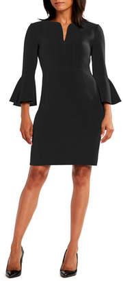 Elie Tahari Natanya 3/4-Sleeve Sheath Dress
