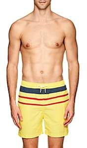 Solid & Striped Men's The Classic Striped Swim Trunks - Yellow