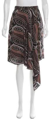 Sophie Theallet Abstract Print Silk Skirt