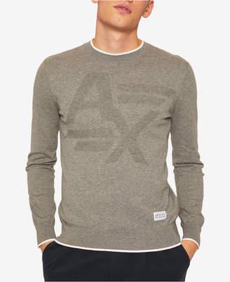Armani Exchange Men Tonal Logo Sweater