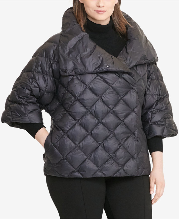 Lauren Ralph LaurenLauren Ralph Lauren Plus Size Quilted Mock Neck Down Jacket