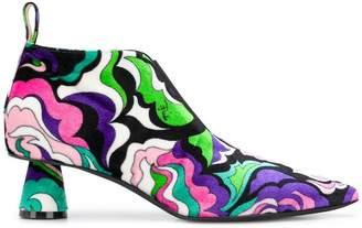 Emilio Pucci multi swirl ankle boot