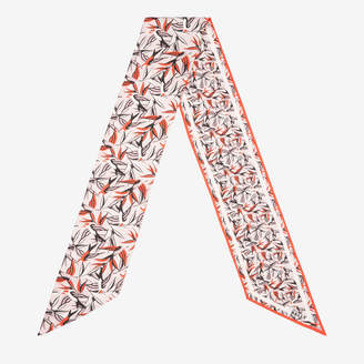 Bally Flying Birds Print Skinny Scarf