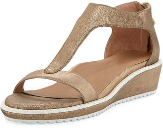 5a3366577a Bettye Muller Concept Tristan Metallic Leather T-Strap Sandals