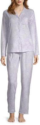 Adonna Womens Long Sleeve 2-pc Pant Pajama Set -Talls